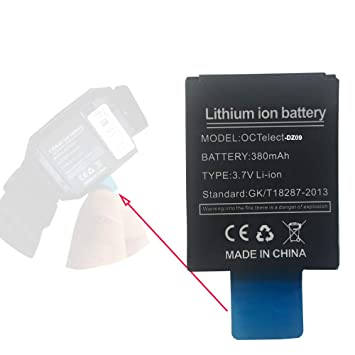 Batería de litio recargable DZ09 de la batería de Smartwatch con la capacidad 380MAH