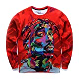Winter Warm Hoodies 3D Print Harajuku 2Pac Tupac Sweats Pullover Tops Cosplay Coat Jacket