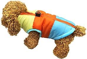 Idepet Mascota Perro Gato Escudo con Correa Ancla Color Patchwork Acolchado Cachorro Chaleco Teddy Chaqueta Chihuahua Disfraces Pug Ropa XS S M L XS, Rosado