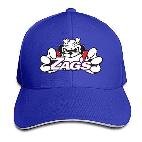 University Sport Gonzaga Bulldogs Pro-Style Sandwich Twill Peak Cap - Fresno Fair Fashion