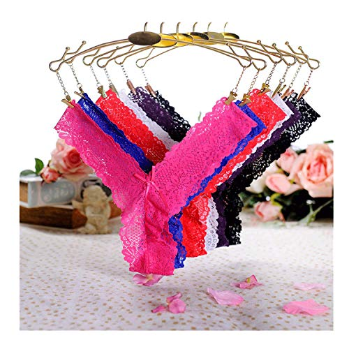 Sheer Panties Thongs Lace V-Strings Low Rise Brief Underwear ()