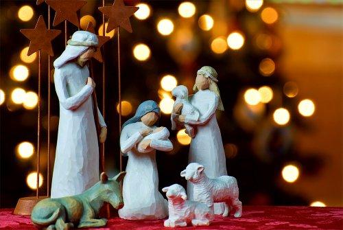 Christmas Nativity Scene Poster Winter Holiday Decor