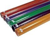 VARYTEC Farbfolie türkis 115 - Farbfilter / Folie 75x50 cm für Scheinwerfer