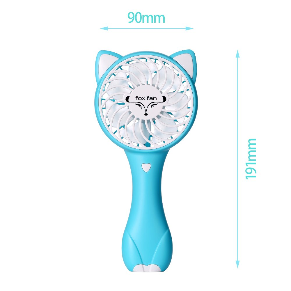 Hebey Mini Fan Handk/ühlung Personal Hand Blauer b/är