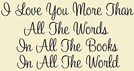 I Love You More Than All The Words In All The Books In All The World