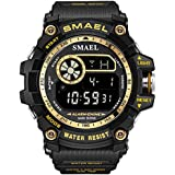 KXAITO Mens Digital LED Sports Watch Military...
