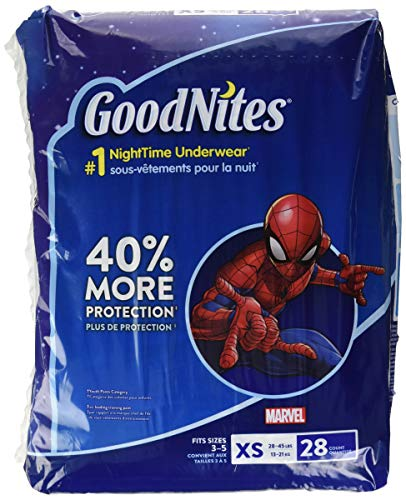 GoodNites Bedtime Bedwetting Underwear for Boys, XS, 28 Ct. (Packaging May Vary)