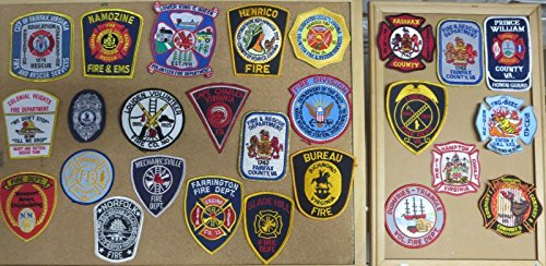 VIRGINIA FIRE/RESCUE DEPARTMENT PATCHES! SET ONE! LOT OF 26!