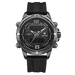 WEIDE Digital Watch Outdoor Sports Waterproof Stopwatch Calendar Alarm Clock Wristwatch (Black)