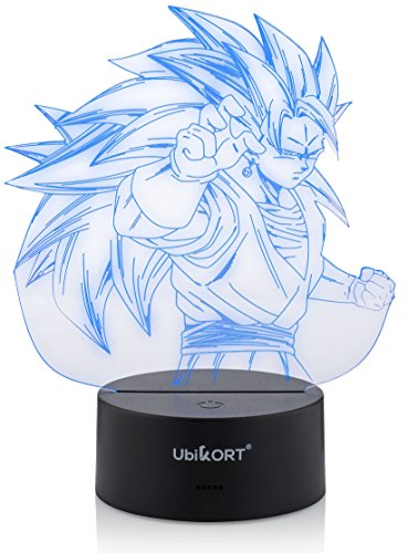 Bright Dragon Ball Broly 3d Rgb Color Changing Led Nightlight Visual Illusion Usb Dragon Ball Super Saiyan Action Figure Anime Dbz Toy Led Night Lights