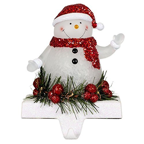 - Smiling Snowman LED Light-up 7 inch Stocking Holder Christmas Figurine Décor