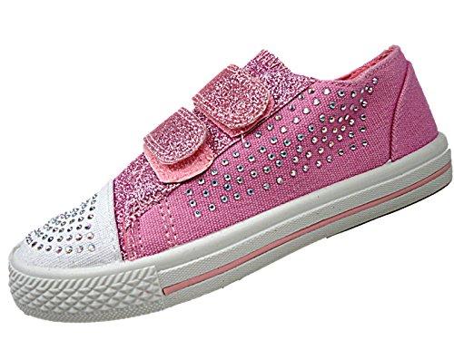Chatterbox - Zapatillas de Lona para niña Rosa rosa 34 EU Rosa