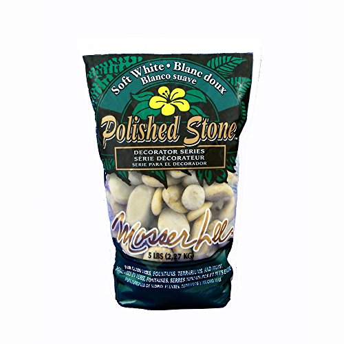 Mosser Lee ML1160 White Polished Stones Soil Cover, 5 lb. (Decorative Soil Cover)