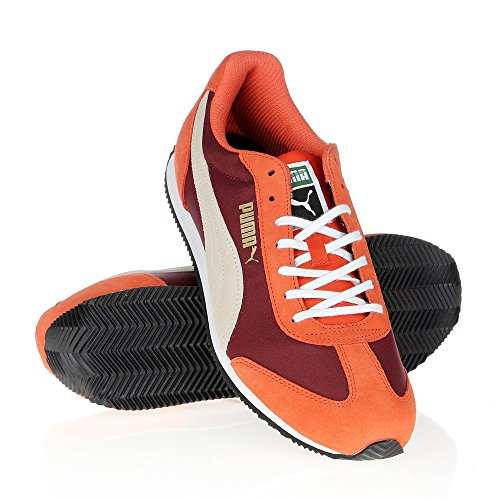 Puma - Rio Speed - 35526618 - Color: Blanco-Naranja-Rojo burdeos - Size: 45.0