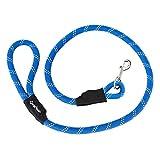 ZippyPaws Climbers Mountain Climbing Rope Dog Leash, 4-Feet, Blue