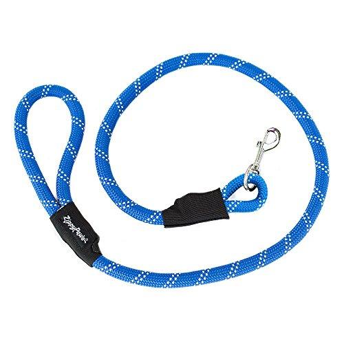 ZippyPaws Climbers Mountain Climbing Rope Dog Leash (Blue, 6-Feet)