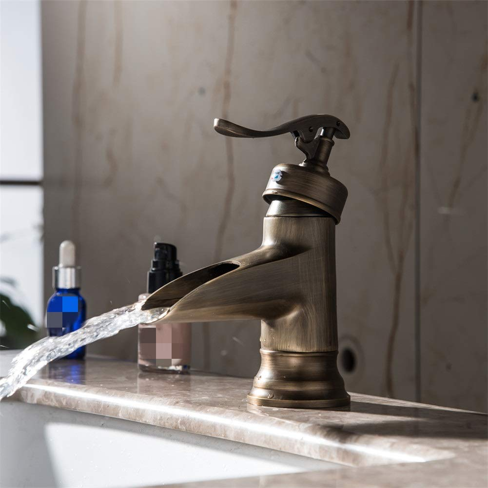 Basin Taps European Style Brass Antique Short Drawing Basin Wash Basin Faucet hot and Cold Water
