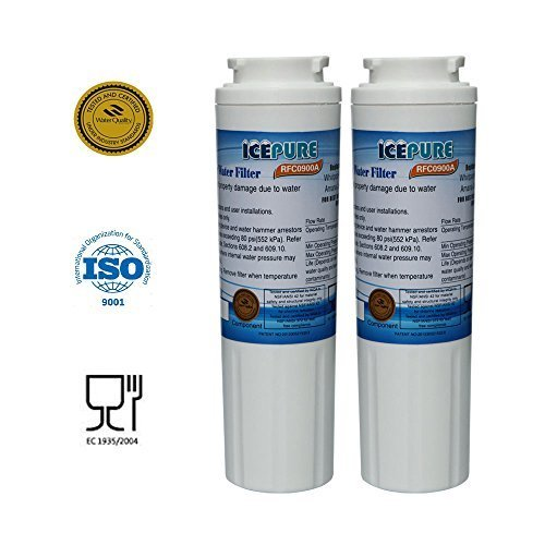 2 - Pack IcePure Water Filter to Replace Maytag, Amana, Kenmore, Jenn-Air, Whirlpool, Kitchenaid, UKF8001, UKF8001AXX, UKF-8001P, UKF9001, UKF9001AXX, 469006, 469992, 9005, 9006, 469030, 12527304, 4396395, WF295, WF50, SGF-M10