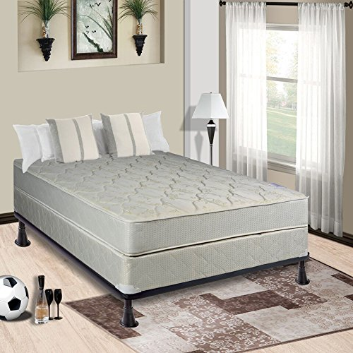 Continental Mattress, 9-Inch Fully Assembled Gentle Firm Orthopedic Back Support Twin Mattress and Box Spring,Hollywood Collection