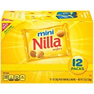 Nilla Wafers Mini Cookies, 12 Count Individual Snack Bags