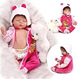 22inch Silicone New Reborn Baby Realistic Sleeping Girl Doll Women Collect Fake Babies Kits Toys