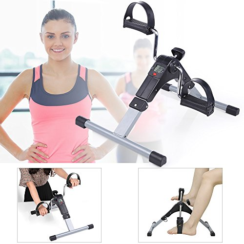 Folding Pedal Exerciser, AGM Medical Digital Under Desk Bike Foot Cycle Arm & Leg Peddler Machine by AGM (Image #4)