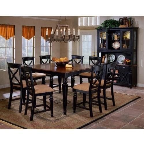 Cherry Counter Height Dining Table Set (Hillsdale Northern Heights 9-Piece Counter Height Dining Set)