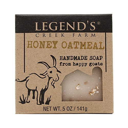 Honey Oatmeal Goat Milk Soap - 5 Oz Bar - Great For Sensitive - Milk Honey Goats Soap