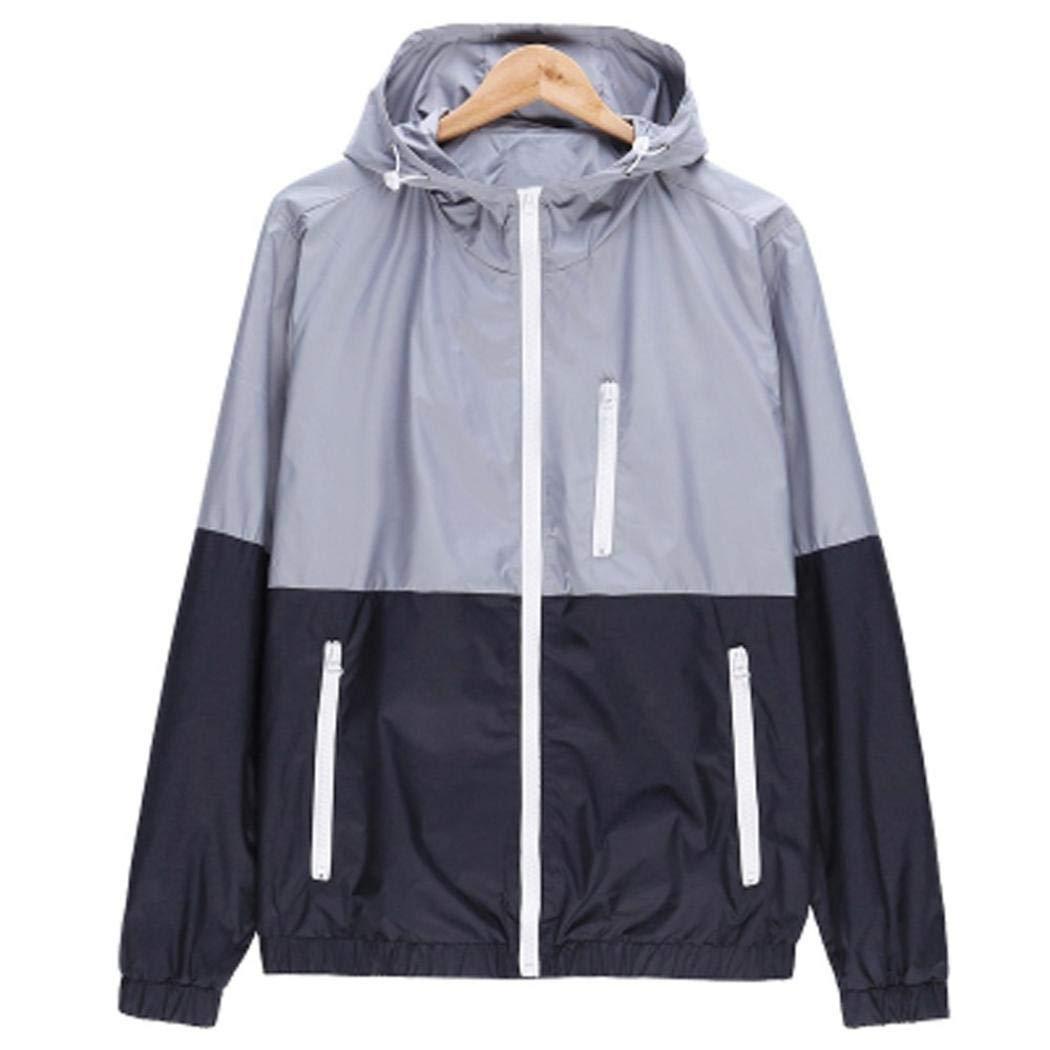 GREFER Mens Casual Jacket Outdoor Sportswear Windbreaker Lightweight Bomber Coat T Shirt by GREFER (Image #2)