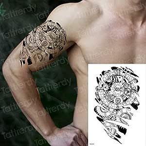 3ps-Hombres hombro tatuaje brazo manga tatuaje pegatina mecánica ...