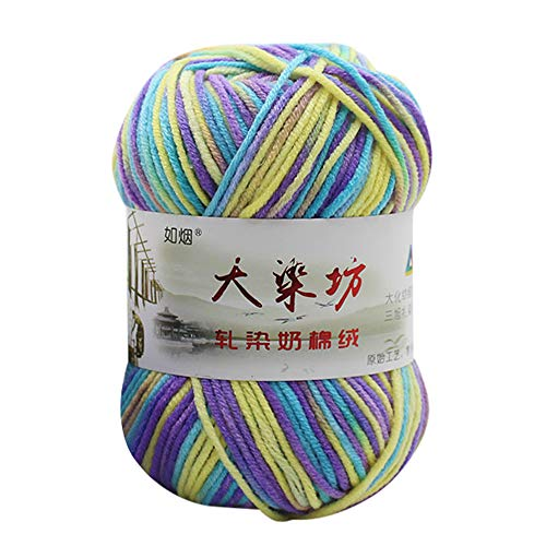 Price comparison product image Clearance Sale!DEESEE(TM)1PC 50g Chunky Colorful Hand Knitting Baby Milk Cotton Crochet Knitwear Wool (C)