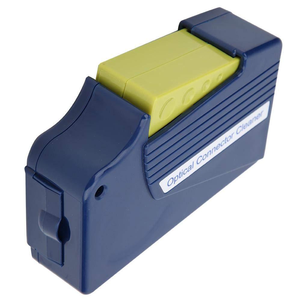 Caja de limpieza de fibra /óptica Limpiador de cara final de casete M/ás de 500 veces Cinta de fibra adecuado para nivel sin polvo CLASS10000