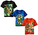 Teenage Mutant Ninja Turtles Little Boys' Toddler 3-Pack T-Shirts, Multi Colored, 4T