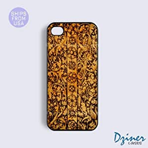 iPhone 6 Tough Case - 4.7 inch model - Carved Wood Design iPhone Cover (NOT REAL WOOD)