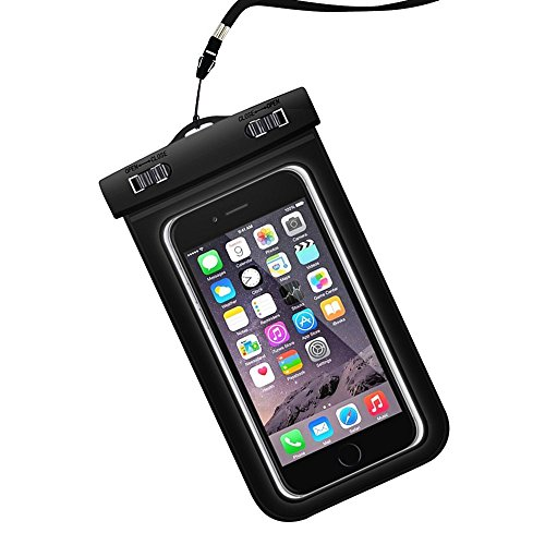 Parboo Universal Waterproof cellphone Case, waterproof phone bag for iPhone 6S,6,6S Plus,7 SE 5S, Galaxy S7, S6 Note 5 4, HTC,LG, Black