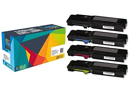 Compatible Xerox Toner Phaser (Do it Wiser Compatible High Yield Toner Cartridges for Xerox Phaser 6600 WorkCentre 6605 - 4 Pack)