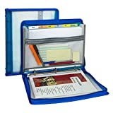 C-Line Zippered Binder with Expanding File, Blue (48115)
