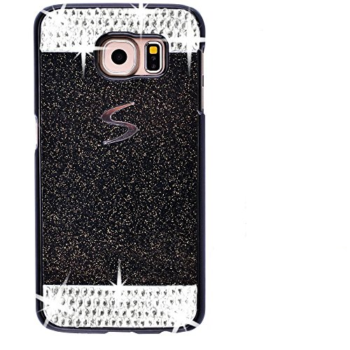 Galaxy S7 Case,Inspirationc® eauty Luxury Diamond Hybrid Glitter Bling Hard Shiny Sparkling with Crystal Rhinestone Cover Case for Samsung Galaxy S7--Black - Rhinestones Cover