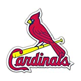 "MLB Officially Licensed St. Louis Cardinals 12"" Bird on Bat Magnet"