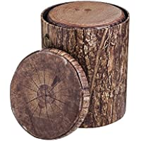 Cape Craftsmen Tree Bark Inspired Nesting Storage Stumps, Set of 3