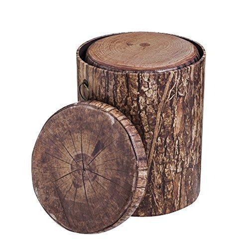 Cape Craftsmen Tree Bark Inspired Nesting Storage Stumps, Set Of 3