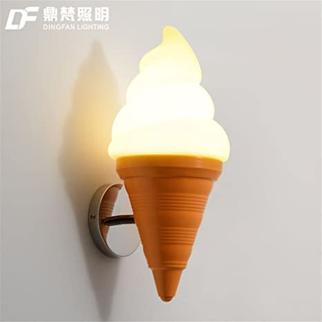 Moderne Applique Led Cornet De Crème Glacée Lampe De Mur De