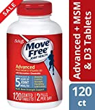 Glucosamine and Chondroitin Plus MSM & D3 Advanced Joint Health Supplement Tablets, Move Free (120 count in a bottle),...