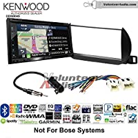 Volunteer Audio Kenwood Excelon DNX694S Double Din Radio Install Kit with GPS Navigation System Android Auto Apple CarPlay Fits 2002-2004 Nissan Altima (Without Bose)