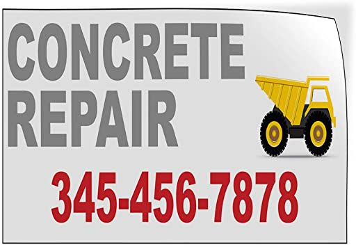 Custom Door Decals Vinyl Stickers Multiple Sizes Concrete Repair Phone Number Business Masonry Outdoor Luggage /& Bumper Stickers for Cars White 30X20Inches Set of 5