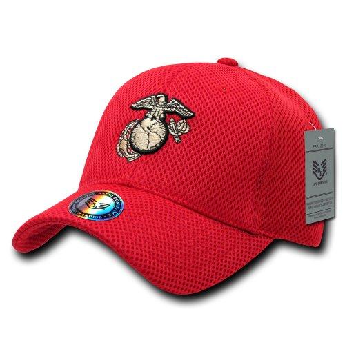 Rapiddominance Marines Air Mesh Military Cap, Red