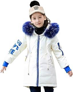 YFCH Bambini Giubbotto Piumino Giacca Invernale Leggero Impermeabile Caloroso Ragazze Cappotto con Cappuccio 4-11 Anni YFCH-F8454