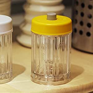 Sotijobs Kitchenware Foods Castor Jam Jar Seasoning Glass Container Storage Canister Cans