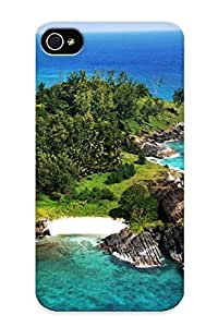 New Fashion Premium Tpu Case Cover For Iphone 4/4s - Silhouette Island, Seychelles Case For New Year's Day's Gift