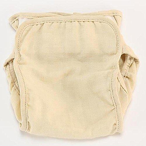 HTTMYY Bebé Fuga Impermeable Pantalones De PañAles AlgodóN De Color OrgáNico Ajustable Suave Transpirable Anti-Lateral Cintura media , M L